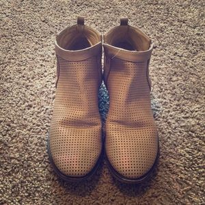 Restricted tan booties, Size 8.5